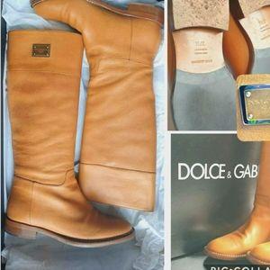 Dolce & Gabbana boots, tan, 37 1/2